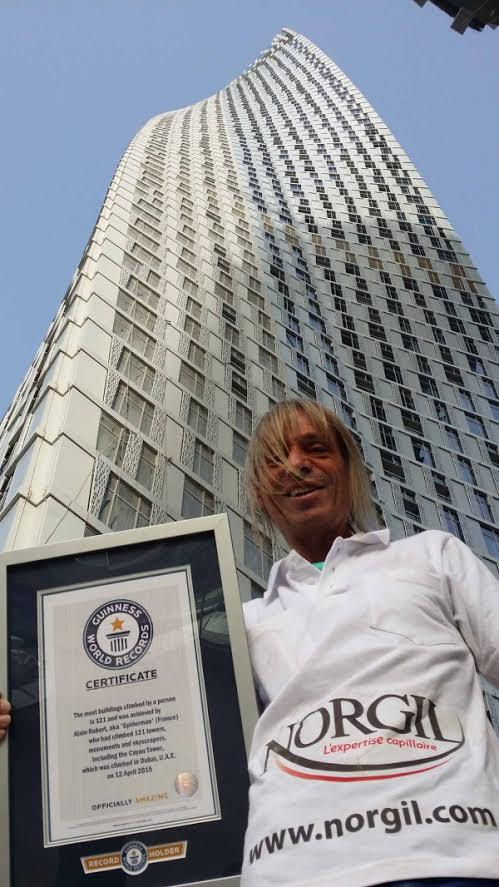 Guinness des records Alain Robert l homme araignee french spiderman