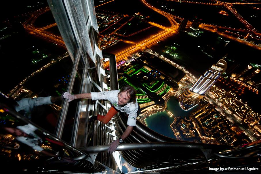 Burj Khalifa Dubai UAE French Spider-Man Alain Robert